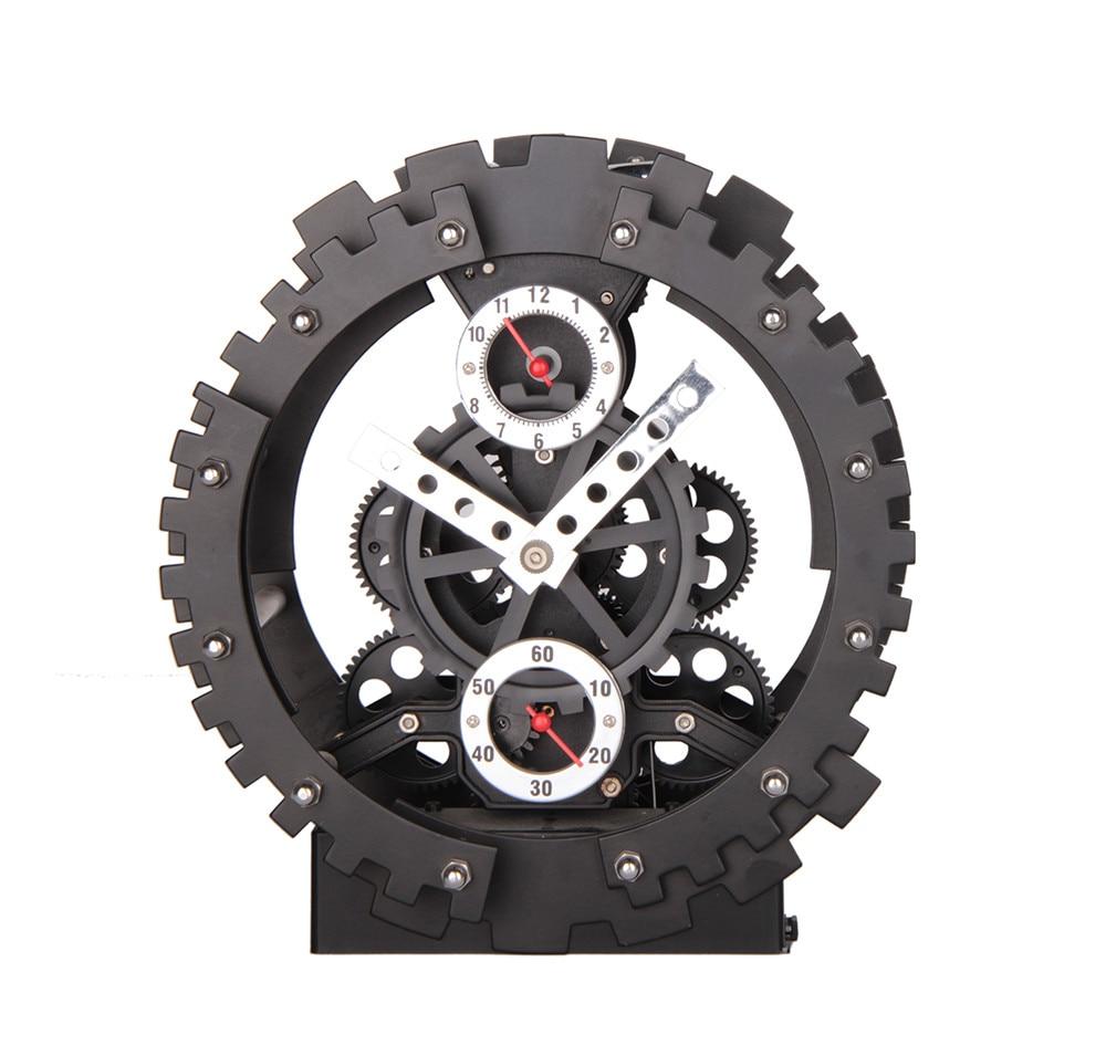 Nowy nabytek mody twórczej duża biegów zegar ścienny biegów mechaniczna wyciszenie ścienny kwarcowy zegar do dekoracji domu w Zegary ścienne od Dom i ogród na  Grupa 1