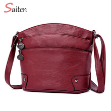 Women Shoulder Bag Classic Brand 3 Zipper Vintage Style Casual Bags Messenger Promotion Crossbody Female Hot Sell