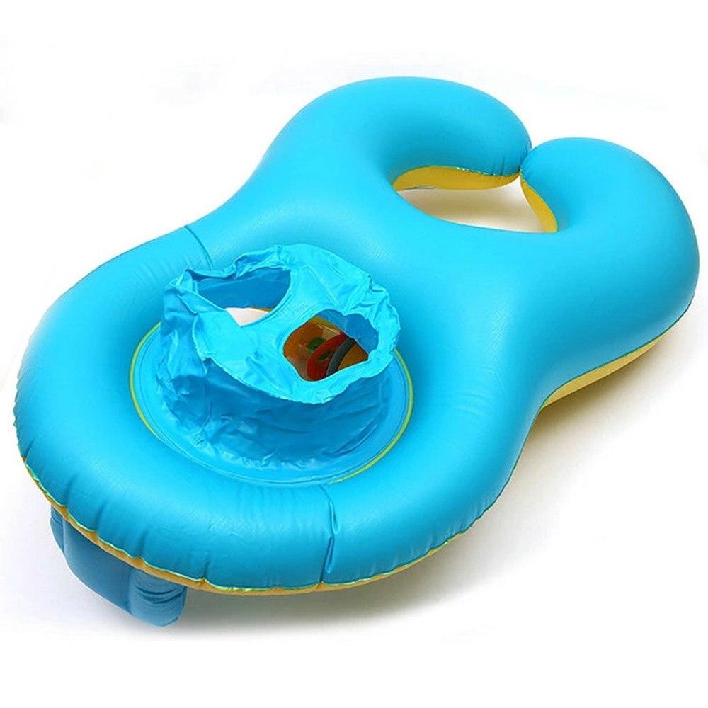 Zwemmen Accessoires Veiligheid Baby Zwembad Float Opblaasbare Dubbele Zwemmen Ring Zwemmen Trainer Cirkels Kid's Stoel Seat Float Voor Moeder