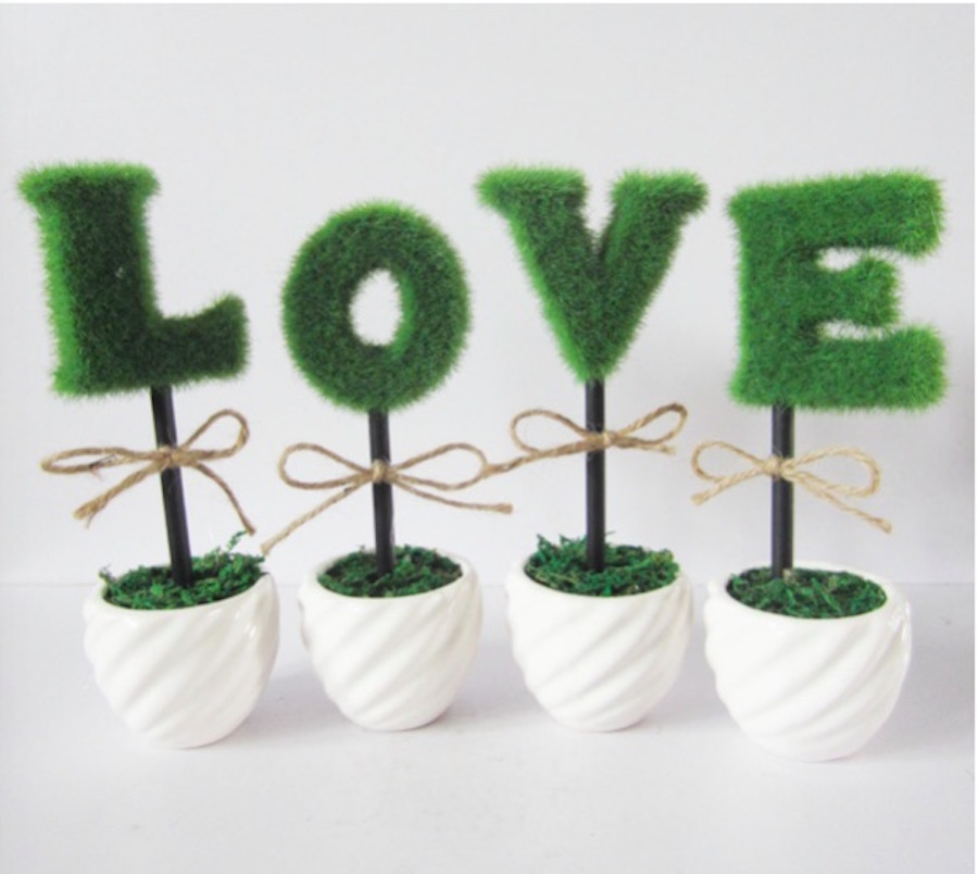 Artificial Plant Pot Love Creative Set Up Fashion Wedding Supplies Spiral Basin Love Plant The Bonsai
