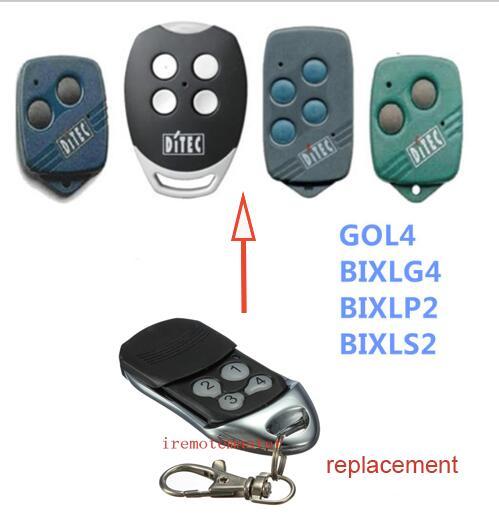 1pcs FOR DITEC GOL4,BIXLP2,BIXLG4 Rolling Code 433mhz Replacement Garage Door Remote Control