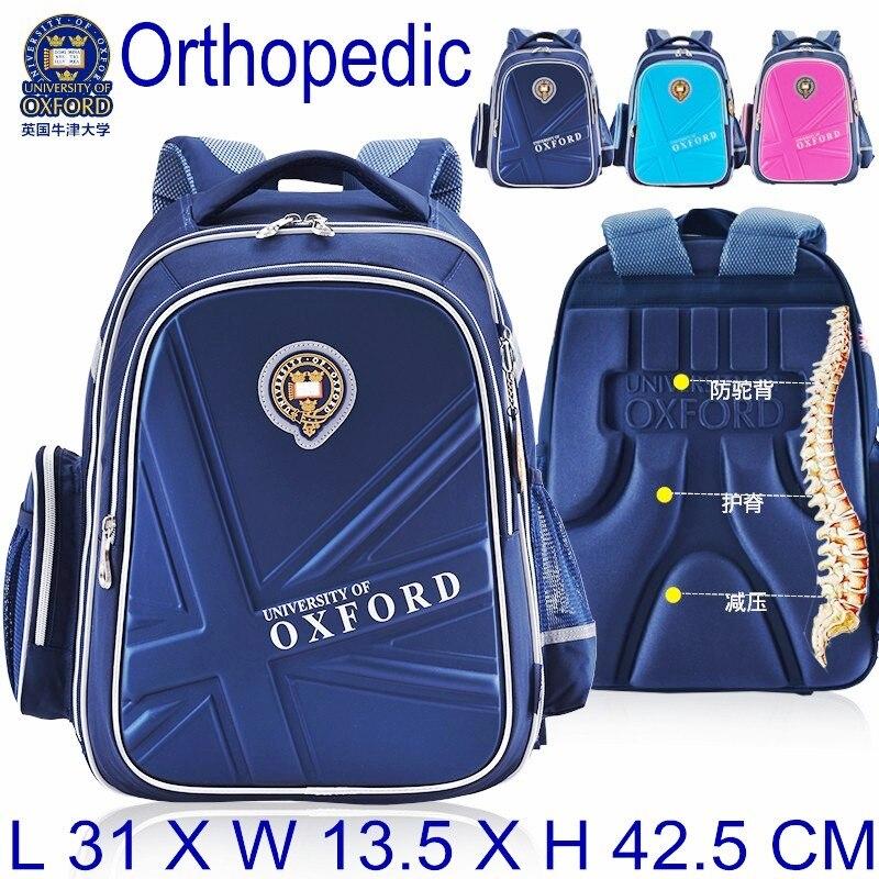812beb56fd3c Горячая Распродажа Оксфордского университета ортопедические ранцы детей рюкзак  портфель рюкзак для подростков мальчиков и девочек