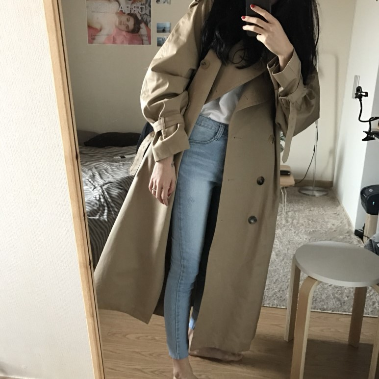 British Style Famous Women long Trench coats casual Streetwear Oversized Spring fall 2019 overcoats