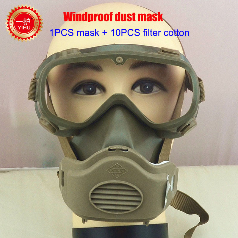 High quality masks gas mask practical conjoined welding mask respirator a suit brown full face respirator jaisati gas mask tactical skull resin full face fog gas masks for cs wargame airsoft paintball face protective halloween mask