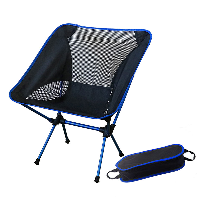 Outdoor Camping Chair Folding Fishing Gaming Chair 3pcs 600D Oxford Fabric 7075 Light Aluminum Alloy for Garden Beach Travelling