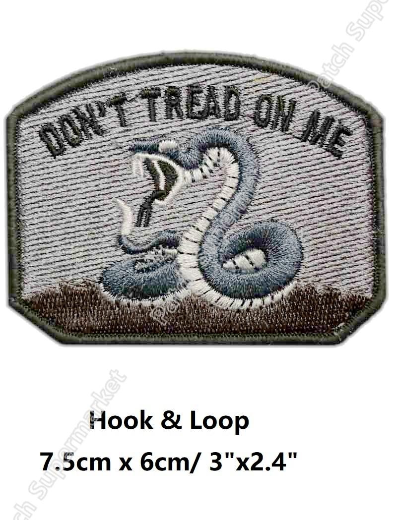 Don/'t Tread on Me Moral Patch Hook /& Loop Black