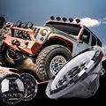 "2 Unids 75 W 12-24 V Camión 7 ""ronda Faros LED Para Jeep Wrangler TJ CJ JK 2007-2016 Impermeable A Prueba de Polvo de color Blanco"