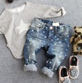 2-8Y new 2016 spring autumn high quality boys fashion star jeans children pant kids jeans boys trousers
