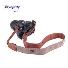 Camera Shoulder Strap Cotton PU Leather Adjustable Camera Sh