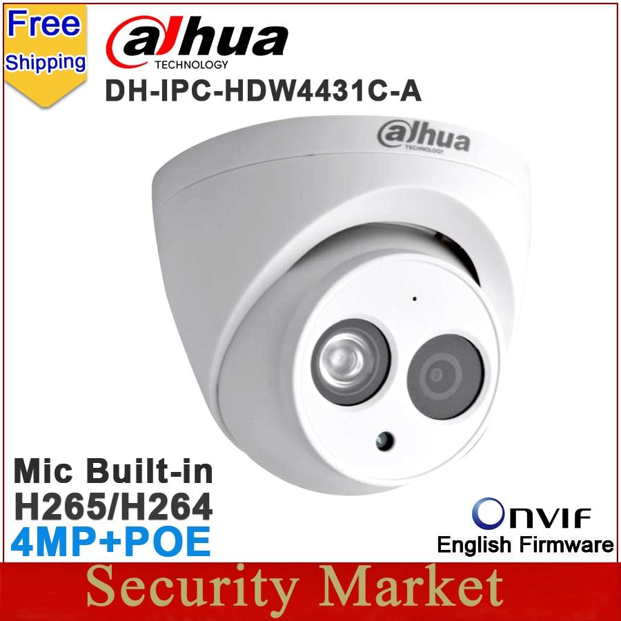 imágenes para Original Dahua Cámara de $ number MP IPC-HDW4431C-A reemplazar IPC-HDW4421C-A IPC-HDW4421C DH-IPC-HDW4431C-A CCTV mic construido en IR dome IP