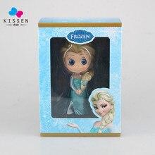 Kissen Anime 13CM Queen Elsa Action Figure Elsa Doll scale painted figure Cute Q Version Elsa PVC Toy