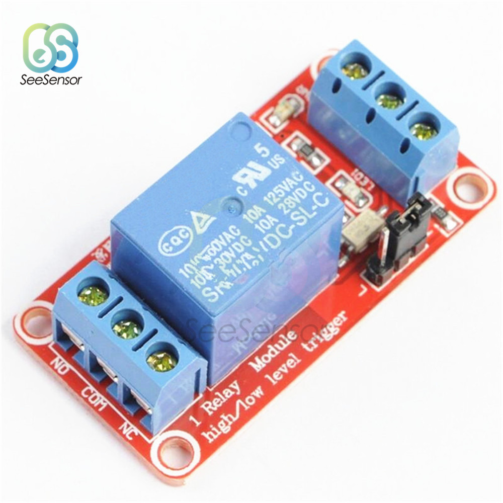 12V 1 Channel High Low Level Trigger Relay Module Board Shield With Optocoupler Isolation Relay Module For Arduino 5V 9V 24V