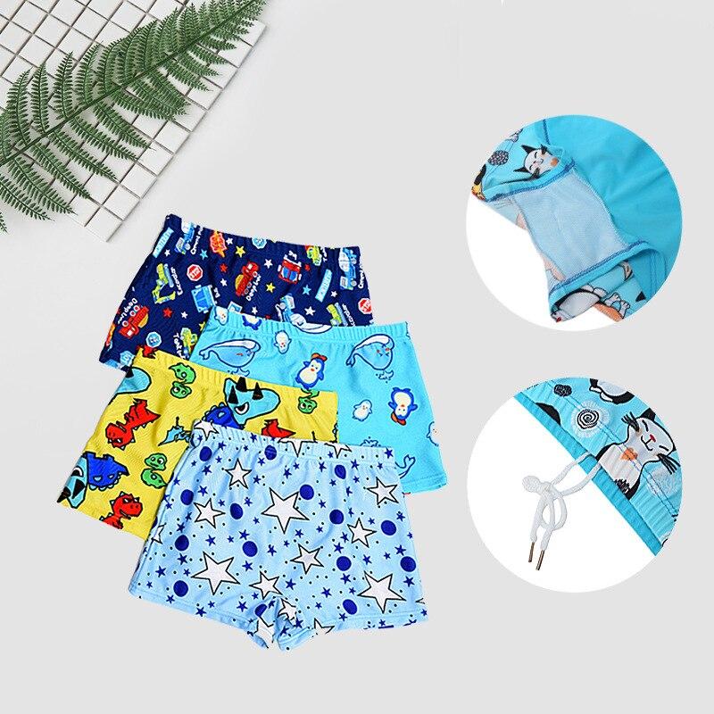 Boys Swimming Trunks Cartoon Children's Swimsuit Child Boys Summer Swimwear Bathing Suit Kids Shorts Korean Children's Swimwear