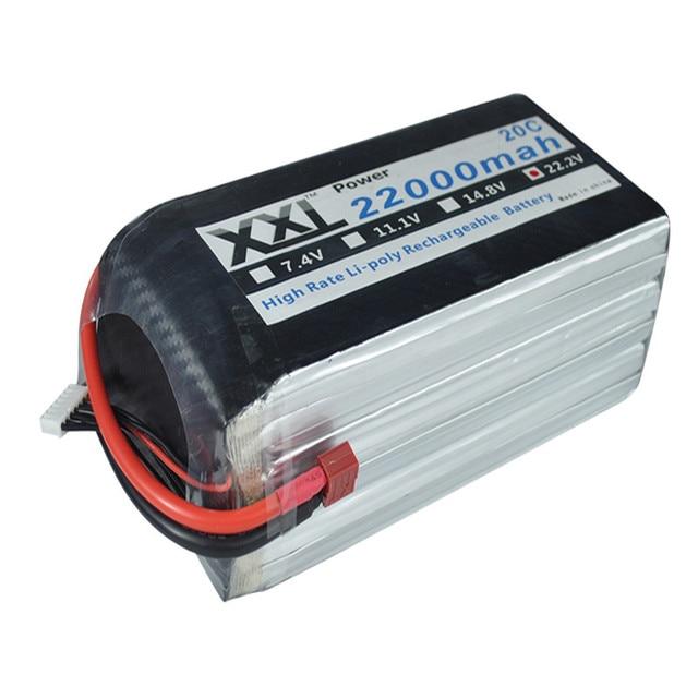 XXL Lipo Batería 22000 mAh 22.2 V 6 S 20C 40C Li polymer