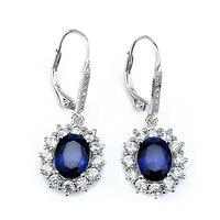 Sinya 925 pendiente colgante de plata con el Azul rojo blanco negro Zafiro de la CZ Crystal Brincos joyería fina para la mujer amante regalo