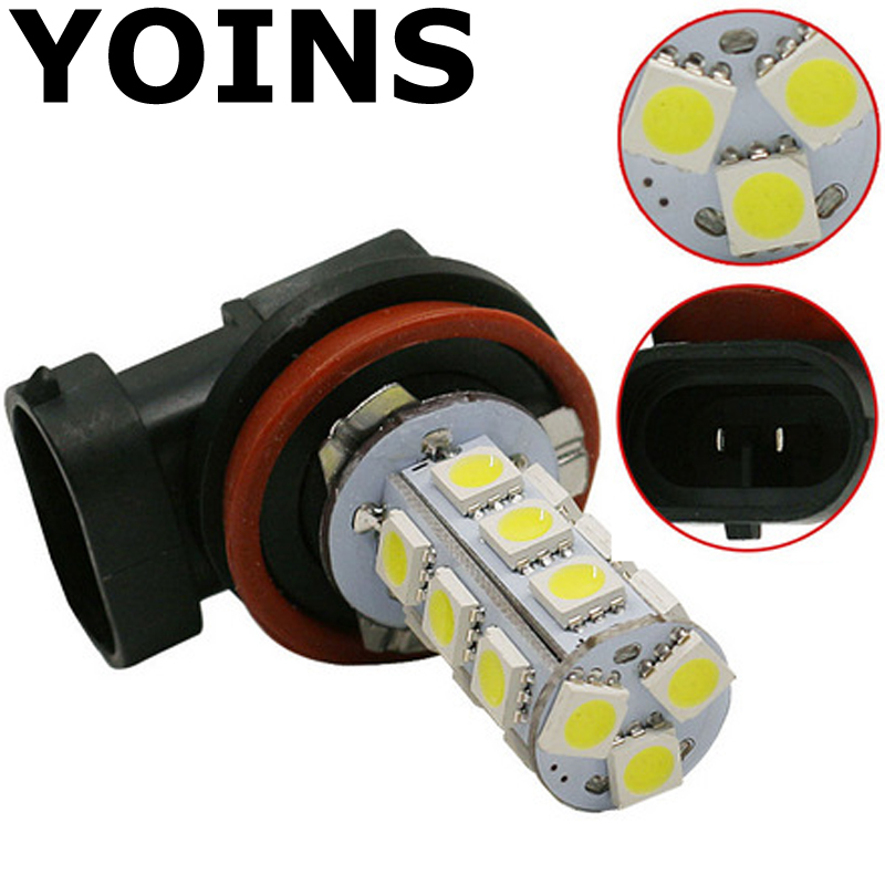 High Quality  White H11 H8 18 LED 5050 SMD Car Auto Day Driving Fog Lights Headlighit Lamp Bulb DC12V One Piece