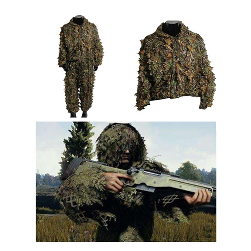 PUBG 3D Leaf Camouflage Invisible Army Fan Costume Eating Chicken Geely Service Hunting Photography CS Field Camouflage