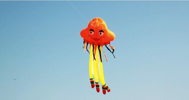 Высокое качество 5 m воздушный змей Медуза летающие Осьминог Мягкий тканевый воздушный змей Нейлон Китайский кайт недорогой воздушный змей завод детские игрушки