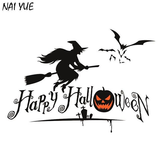 NAI YUE Feliz Etiqueta de La Pared de Calabazas de Halloween ...