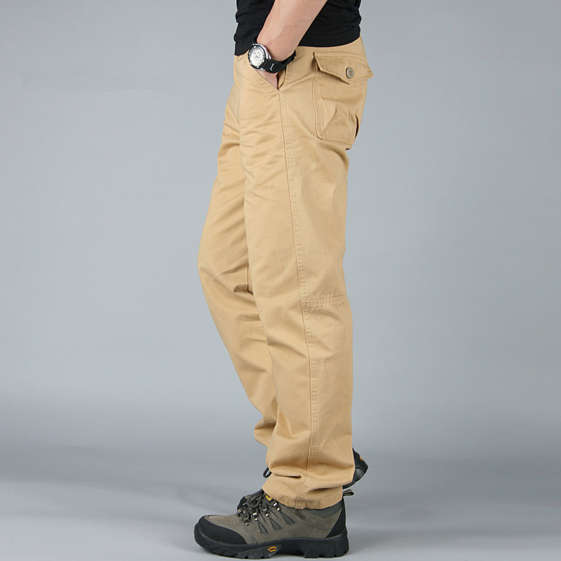 High Quality Cotton Casual Mens Joggers Cargo Pants Men Baggy Tactical Pants Multi Pocket Army Military Male Outdoors Trousers ganyanr brand military tactical cargo outdoor long pants men army training cotton hunting hiking outdoors sports trousers solid