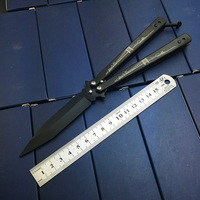 High Quality Tactical Fold Knife Butterfly Practice KNIFE Training Tools Balisong No Edge Unsharp Bridge Print