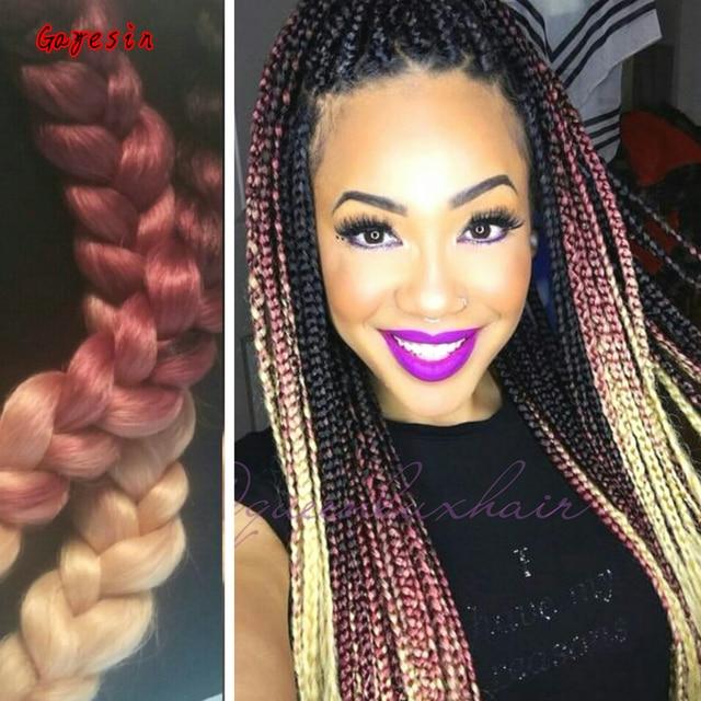 silky ombre braiding hair kanekalon hair 100gpcs
