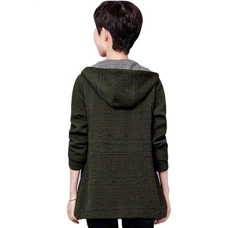 Couture 2017 Vestes Automne Survêtement Grande Vêtements Poches Court Casual Taille army A667 Capuchon À Femmes Green Printemps Dames D'âge Navy Mi red Lâche v6fTvqr