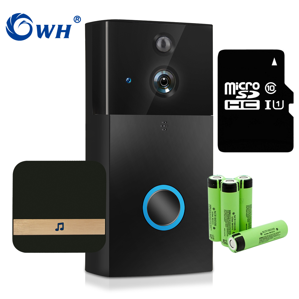 CWH 720P Video Intercom Wireless Home Video Door Phone Doorbell IP Camera With Dingdong SD Card Recording Support Battery Power