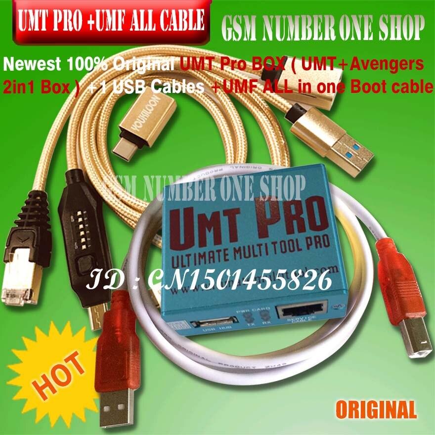 Date 100% d'origine UMT Pro boîte UMT + Avengers 2in1 boîte avec 1 câbles USB