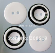 NB0040 2 Holes Black/White color Round Buttons as Doll Eye decoration 50pcs/lot Multisizes sewing clothes Button
