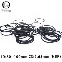 10PCS/lot Rubber Ring Black NBR Sealing O-Ring 2.65mm Thickness ID80/85/87.5/90/95/100mm Nitrile O Seal Gasket Washer