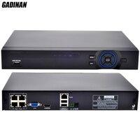 GADINAN 4CH 1080P HDMI P2P POE NVR 48V Input IEEE802 3af PoE Switch Inside ONVIF XMEYE