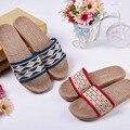 Parejas Zapatillas de cáñamo de Los Hombres de Primavera y Verano Zapatos de Los Hombres Para La Casa de Interior Dormitorio Baño antideslizante Mujeres de Los Planos