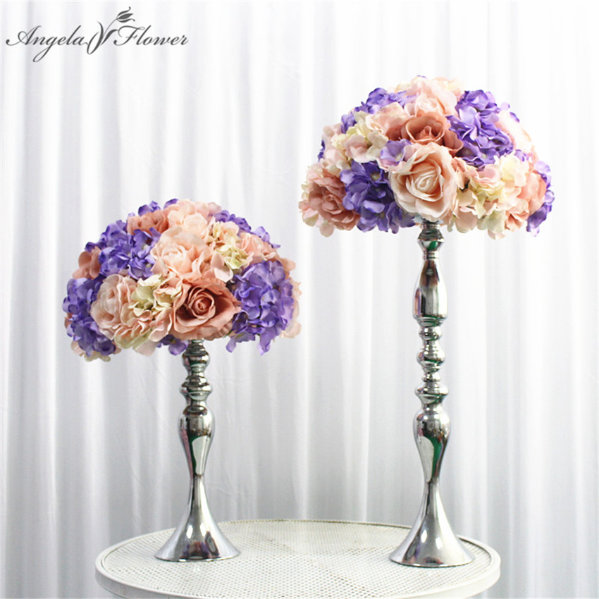 Customized artificial flower ball flower row table flower for Diy hotel decor