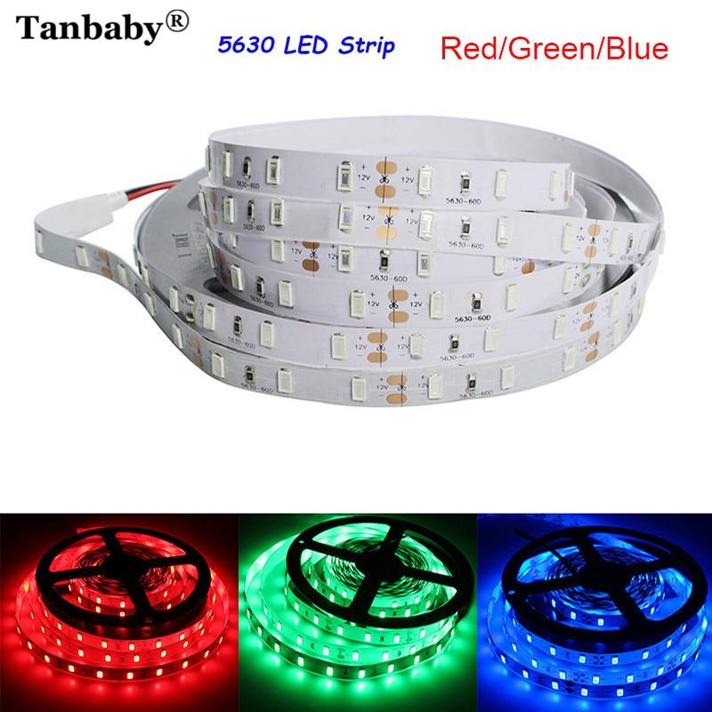 Tanbaby DC12V פס LED 5630 גמיש אור 5m 300leds דבק סרט רצועת אור בהיר בית קישוט למסיבה, יום הולדת