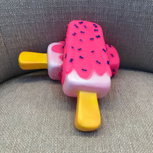 Pet Dog Toy Chew Squeaky Rubber Pink Popsicle Shaped Toys for Cat Puppy Baby Dogs Ice Cream Bite Molar Toy Funny Interactive