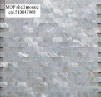 Bán nhà máy hoa văn gạch trắng mother of pearl liền mạch gạch mosaic backsplash phòng tắm nhà bếp gạch khảm v