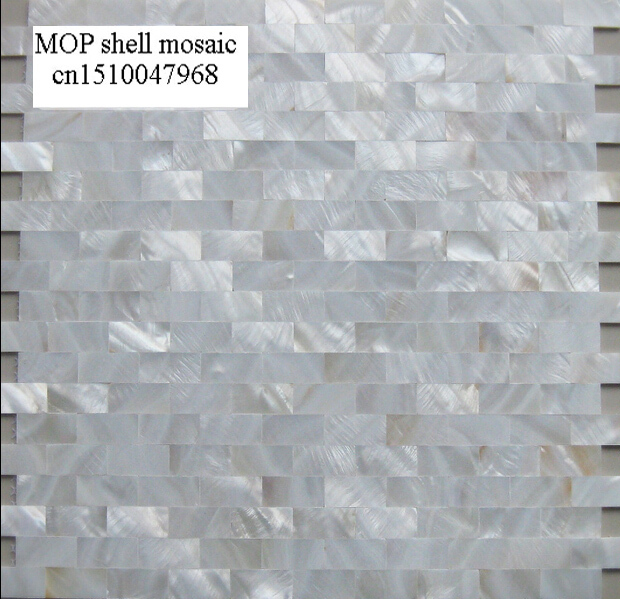 Factory Sale Brick Pattern White Mother Of Pearl Seamless Mosaic Tiles Backsplash Bathroom Kitchen Shell Mosaic Tile