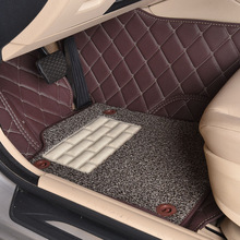 Myfmat CUSTOM foot car floor mats leather rugs mat for Jeep Grand Cherokee wrangler commander waterproof double layer thick safe