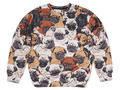 2015 nuevo otoño animal print pug mujeres hombres sudadera 3d divertido sudaderas con capucha lindo streetwears moda otoño sudor venta al por mayor