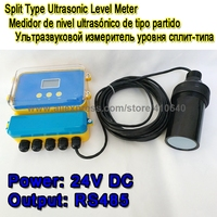 4 to 20mA RS485 Dual Outputs Ultrasound Water Level Meter 15 Meter Range With LCD Display 24 VDC Power Ultrasonic Sensor