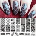1 Unid Encaje Patrón de Flores Nail Art Sello Plantilla Placa de la Imagen Stamping NACIDO PRETTY BP-L020