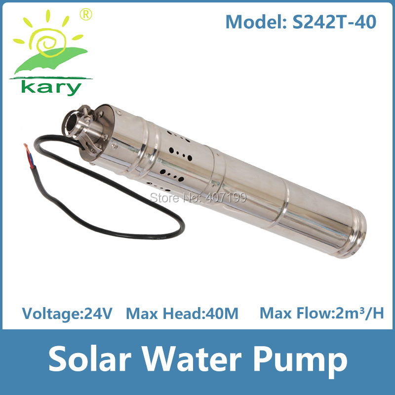 24v dc brushless stainless steel screw solar water pumping machine for deep well submersible pump price S242T-40 50mm 2 inch deep well submersible water pump deep well water pump 220v screw submersible water pump for home 2 inch well pump