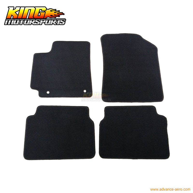 for 2009 2011 toyota corolla 4dr floor mats carpet front rear nylon black 4pc usa domestic. Black Bedroom Furniture Sets. Home Design Ideas