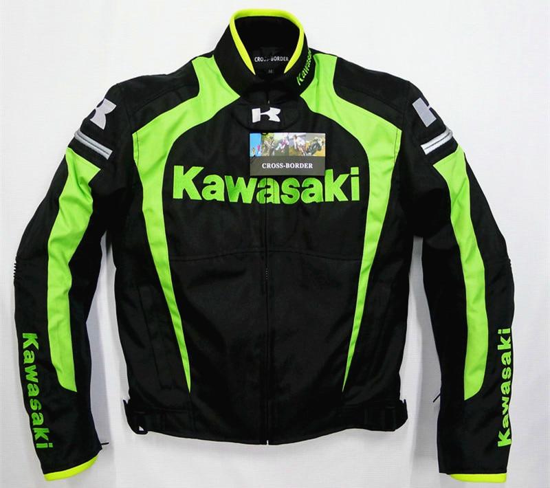 Pour Kawasaki Racing Team Moto Moto GP veste de course avec protecteurs veste verte