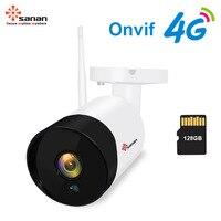 Sanan Outdoor GSM CCTV Camera 4G SIM Card 1080P Surveillance IP Camera 30PCS IR Night Vision PIR Motion Onvif cameras Siren