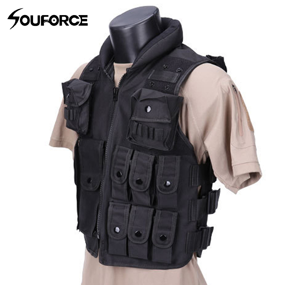 High Quality Black Military Vest Wargame Body Armor Sports Wear Hunting Vest CS Four Seasons Outdoor Products Equipment