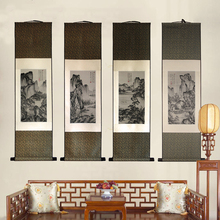 Silk scroll Painting Famous traditional Chinese Paintings Silk tapestry brocade Wall Pictures high-end promotion gift home decor недорого