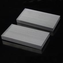 3pcs/lot 100x48x11mm Silver Tone Aluminum Heatsink Radiator Heat Sink 100mm x 48mm x 11mm 40120026 aluminum heatsink radiator black 37 x 37 x 3mm