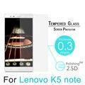 """K5 k5 nota 9 h 0.3mm 2.5d temperado filme de vidro temperado para lenovo k5 note 5.5 """"-À Prova de explosão Protetor de Tela Capa Guarda"""